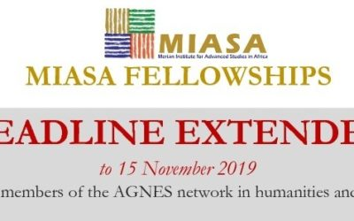 Application for MIASA fellowships: Deadline extended (Only for members of the AGNES Network in humanities and social sciences)